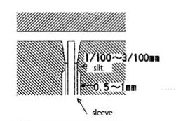 vent use core pin