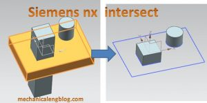 Siemens nx intersect command