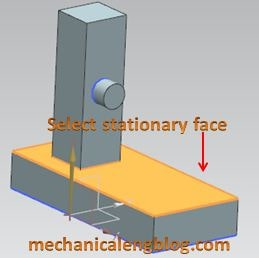 create a draft from a face select stationary plane