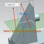 create a draft from parting edge select parting edge and angle