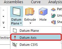 siemens nx datum axis command