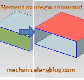 siemens nx modeling unsew command