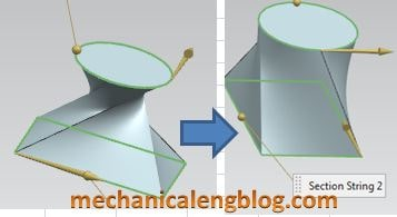 siemens nx surface ruled surface change specify origin curve