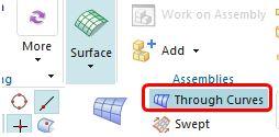 siemens nx surface through curves icon