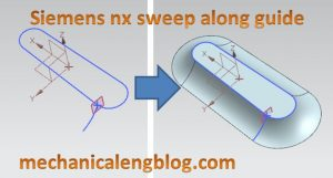 siemens nx sweep along guide command