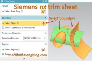 siemens nx trim sheet boundary