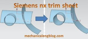 siemens nx trim sheet command