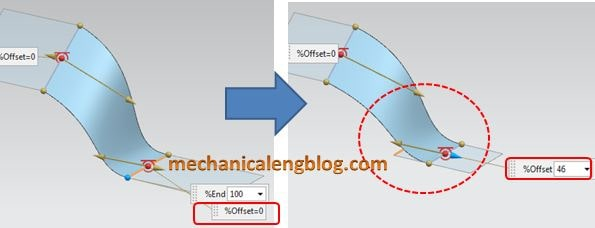 siemens nx tutorial bridge surface drag the offset arrow