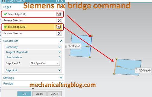 siemens nx tutorial bridge surface select edge