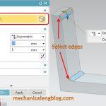 siemens nx tutorial chamfer select edges