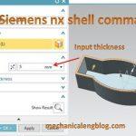 siemens nx tutorial shell select thickness