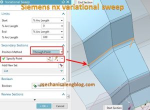 siemens nx variational sweep secondary section