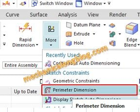 siemens nx sketch perimeter dimension icon
