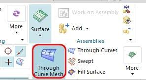 through curve mesh icon
