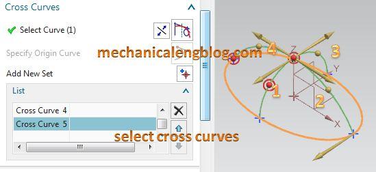 through curve mesh select cross curves