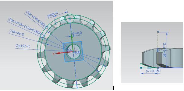 design chain sprocket 10