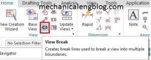siemens nx drafting break view icon