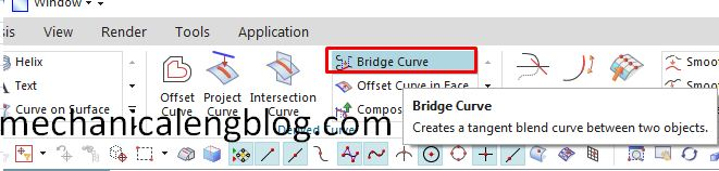 siemens nx modeling bridge curve icon
