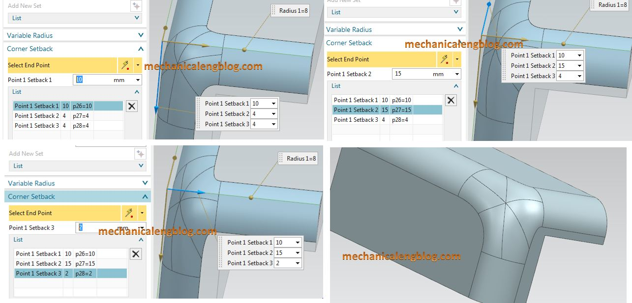 siemens nx modeling create an edge blend with corner setback list