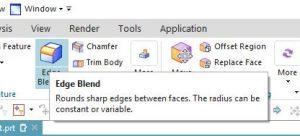 siemens nx modeling edge blend icon