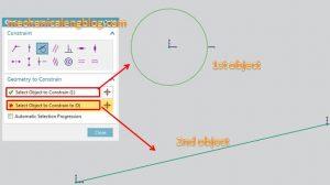 siemens nx sketching geometric constraints select object