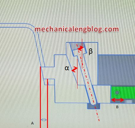 slide core injection molding calculation