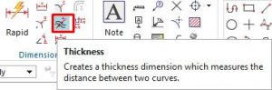 Thickness dimensions icon
