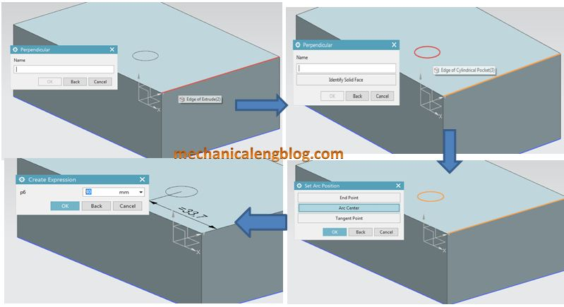 siemens nx positioning perpendicular option guide