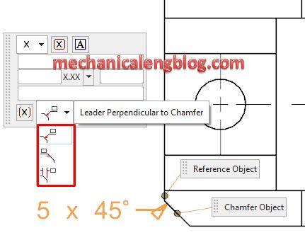 write chamfer dimensions