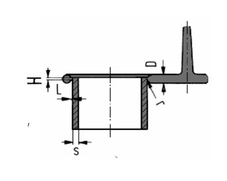 Ring gate with circular cross-section