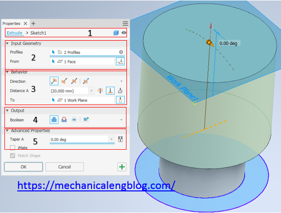 inventor tutorial create new extruded feature
