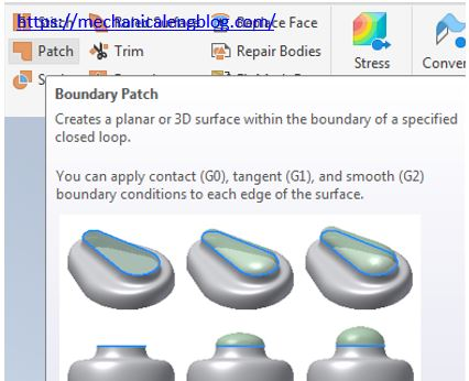 Autodesk inventor boundary patch icon