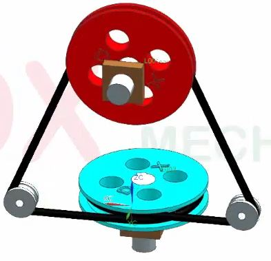 Belt pulley mechanism example 6