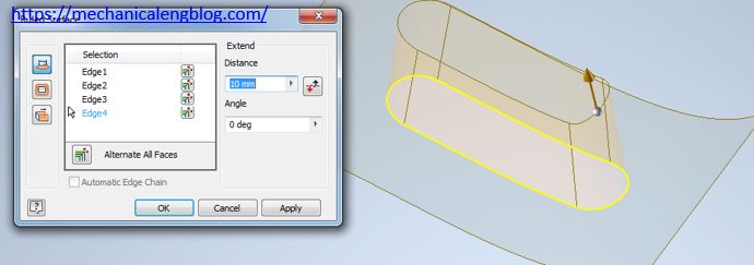 autodesk inventor create ruled surface