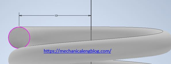 autodesk inventor design spring sketch 2