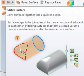 autodesk inventor stitch surface command