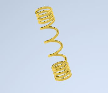 how to design compression spring in autodesk inventor