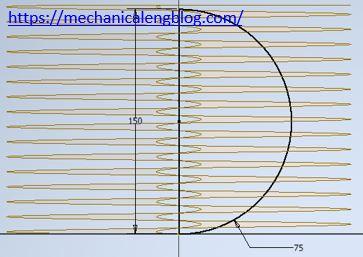 sphere spring sketch for revolve