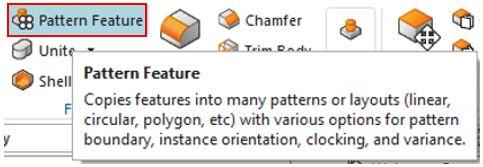 Siemens nx pattern feature icon