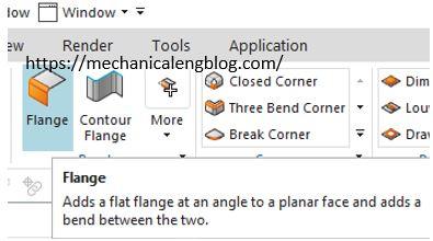 Siemens nx sheet metal flange command icon