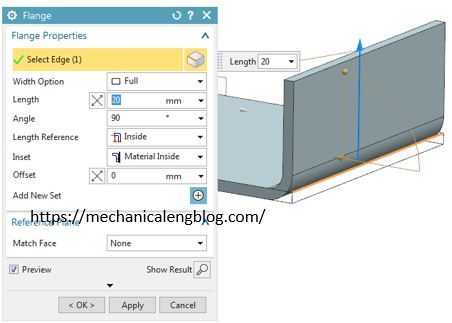 Siemens nx sheet metal use flange command