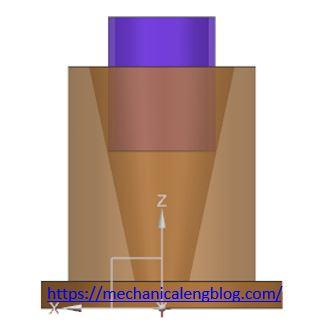 measure female taper by tube step 1
