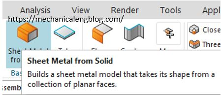 sheet metal from solid icon