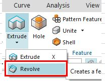 siemens nx revolve command icon