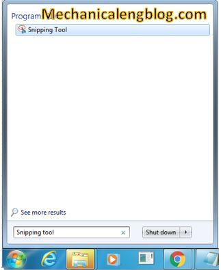 find Snipping tool