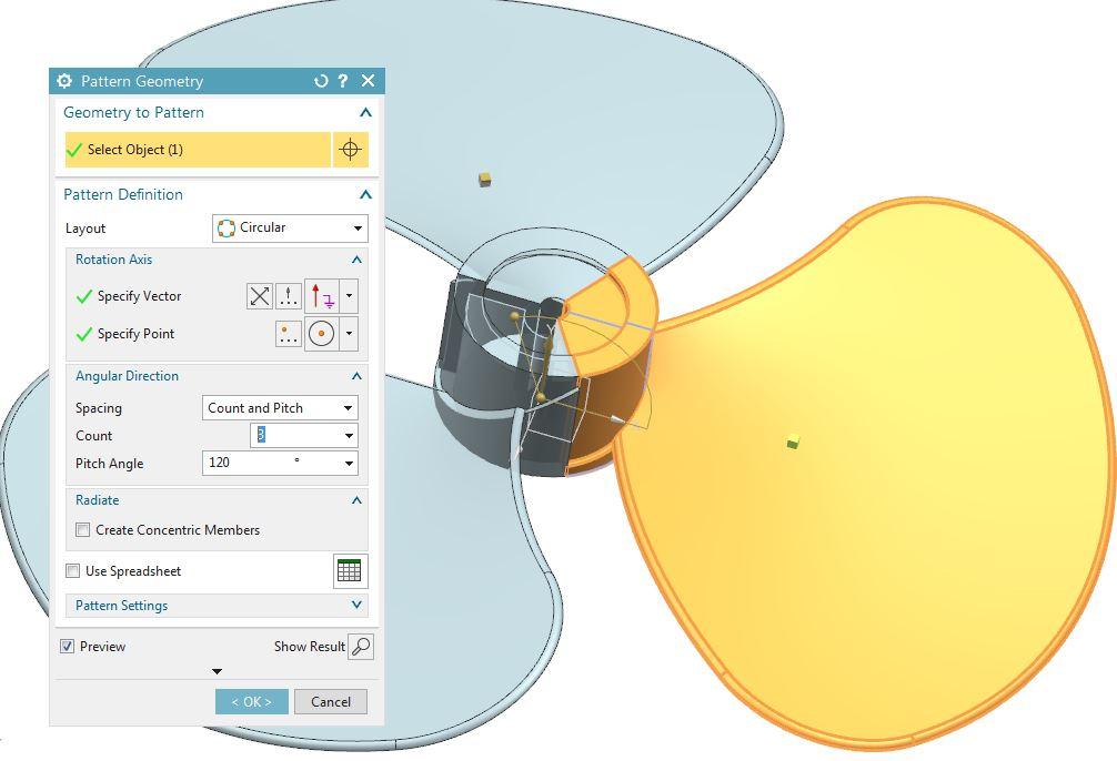 How to design fan in Siemens nx 13