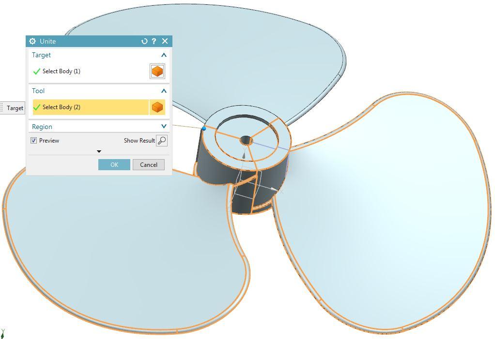 How to design fan in Siemens nx 14