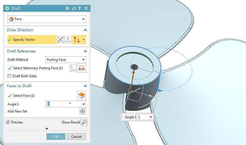 How to design fan in Siemens nx 15