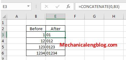 Using CONCATENATE command