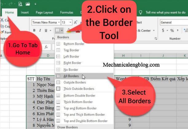 excel-home tab-border tool-all border